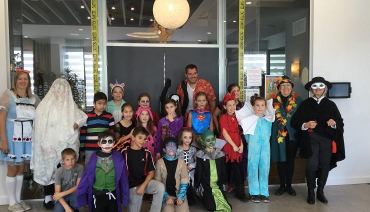 Visite intergénérationnelle pour l'Halloween!