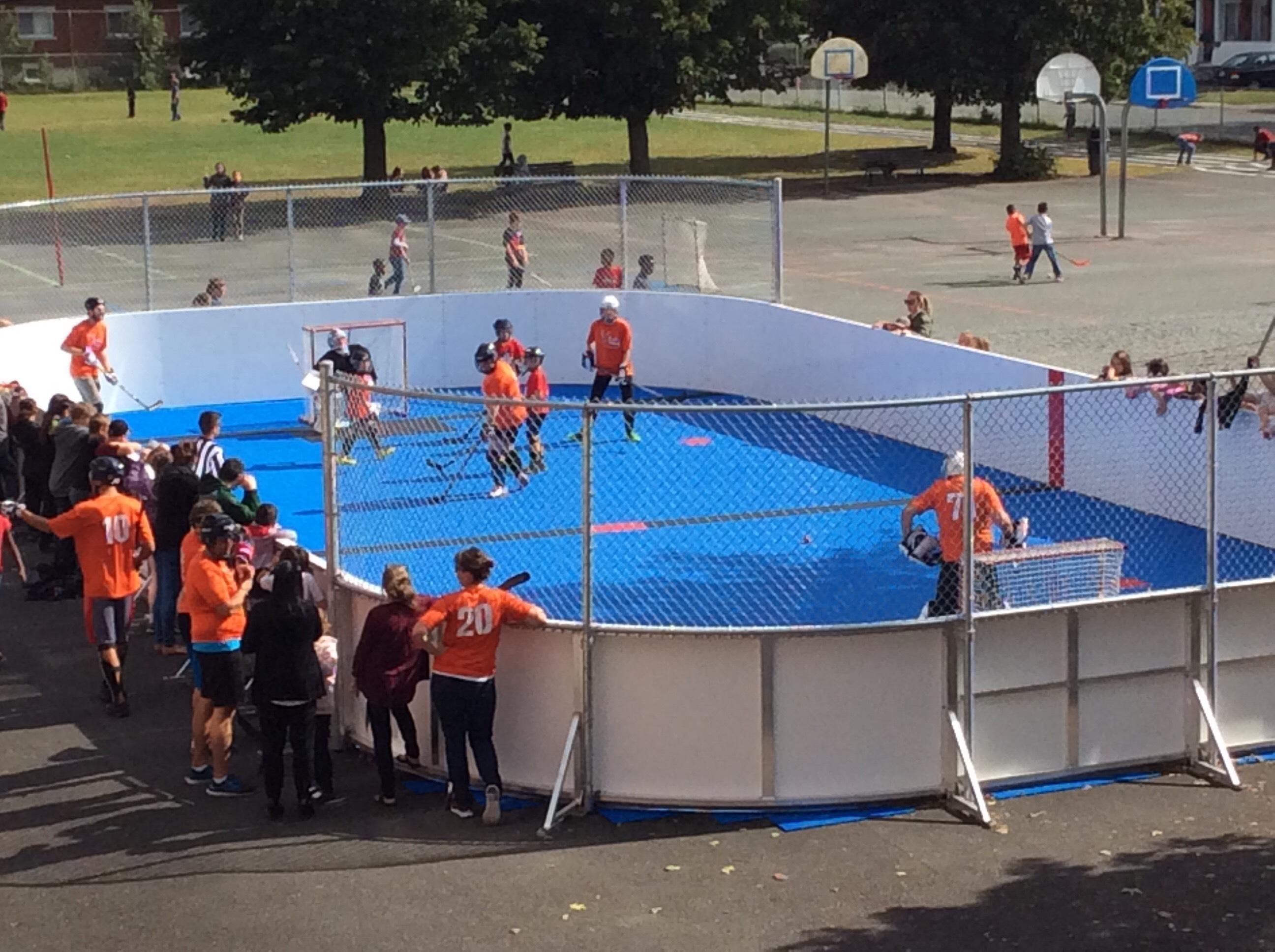 Partie Dek Hockey enseignants VS élèves